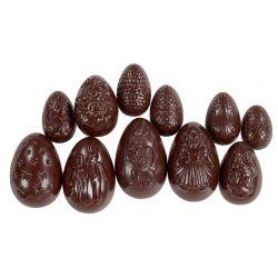 Assortiment d'œufs de Pâques noir