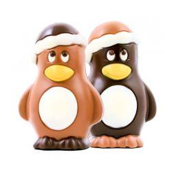 Pingouin De Noël Lait Ou Noir 9cm