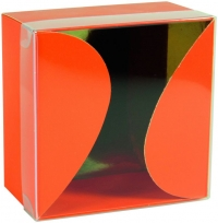 Boîte Gourmande Orange couvercle transparent montée
