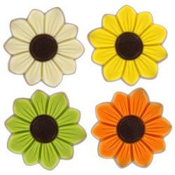 Fleurs lait colorées