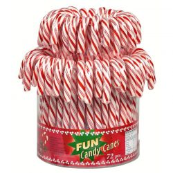 Tubo 72 Candy canes rouge et blanc 14g