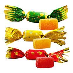 Caisse papillotes pâte de fruits 3 parfums