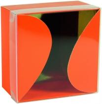 Boîte Gourmande Orange couvercle transparent