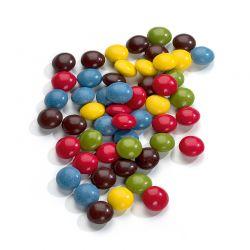 Dragées chocolat multicolores
