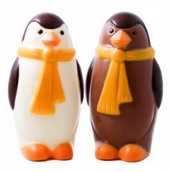 Pingouin lait et blanc coloré 15cm