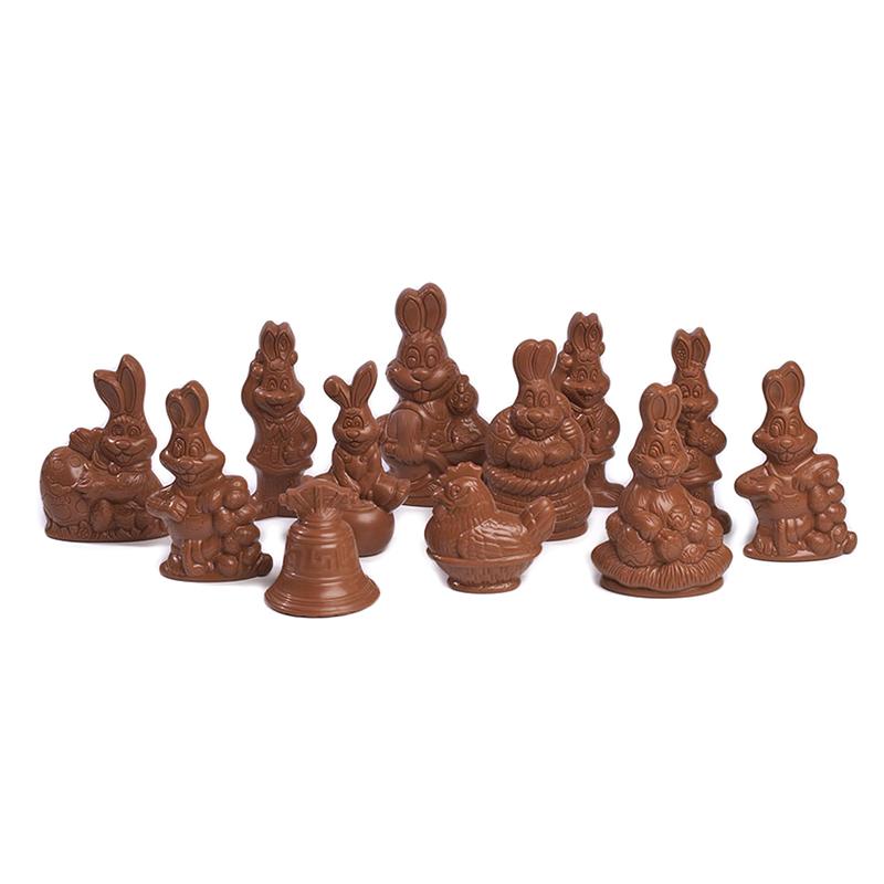 Assortiment petites figurines de Pâques 60g Lait