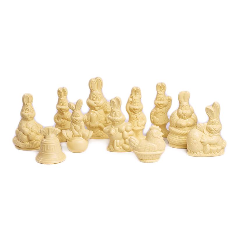 Assortiment petites figurines de Pâques 60g Blanc